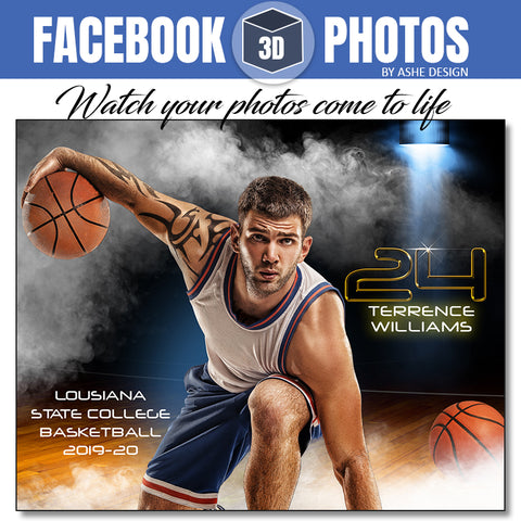 Facebook 3D Photo - Full Steam Basketball