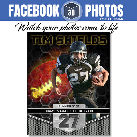 Facebook 3D Photo - Great Balls of Fire Football
