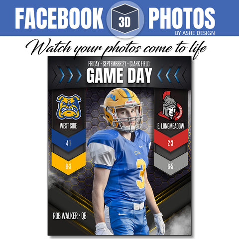 Facebook 3D Photo - Game Day Banners