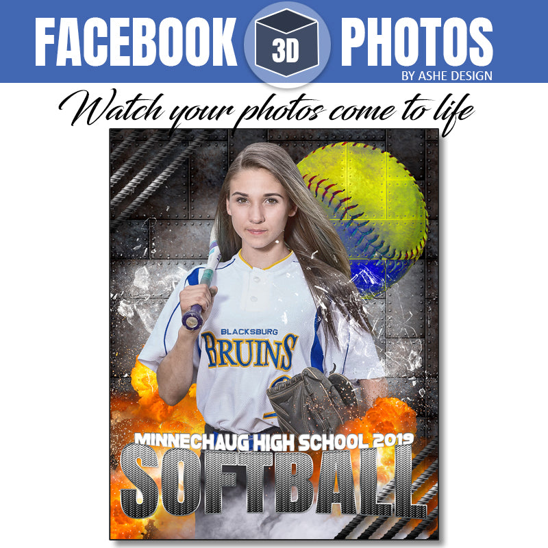 Ashe Design - Facebook 3D Photos Softball