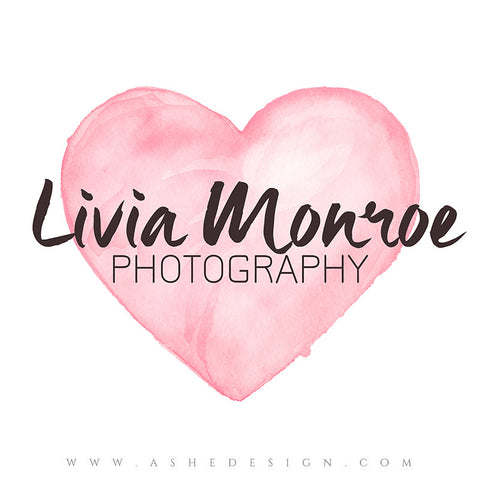 Customizable Logo - Watercolor Heart