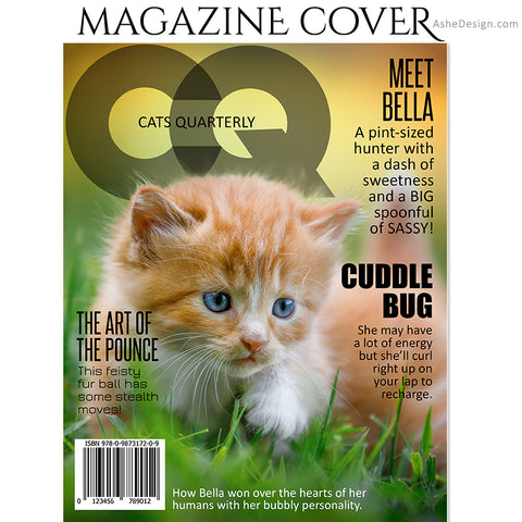 Cat Magazine Cover 8x10 - CQ Cats Quarterly