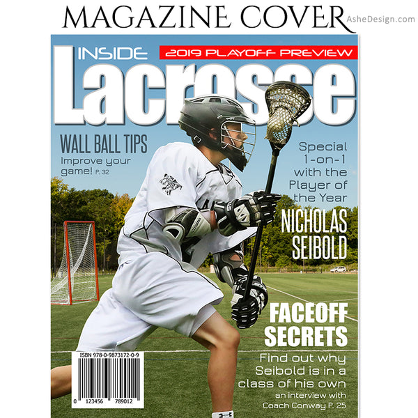 Sports Magazine Cover 8x10 - Inside Lacrosse