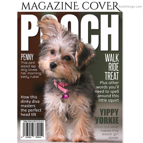 Dog Magazine Cover 8x10 - Pooch