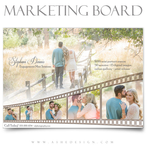 Ashe Design 5x7 Marketing Board - Faded Film Strip