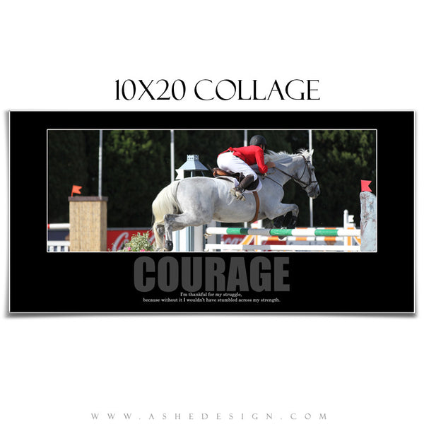 Motivational Collage Set (8x10,10x20,11x14) - Courage