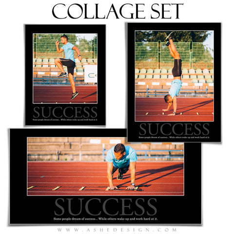 Motivational Collage Set (8x10,10x20,11x14) - Success