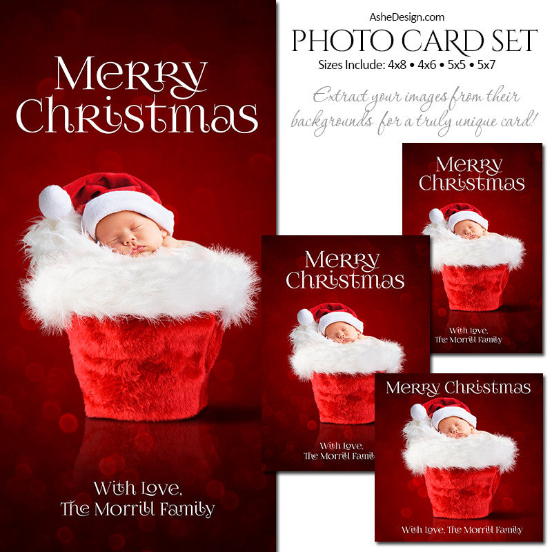 Christmas Photo Card Set - Santa Baby 2016