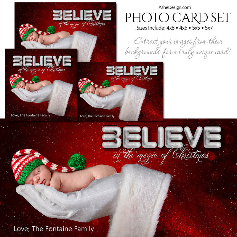 Christmas Photo Card Set - Santa's Hand