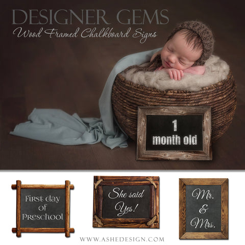 Ashe Design | Designer Gems | Wood Framed Chalkboard Signs | 8x10