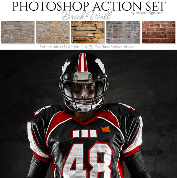 Photoshop Action - Overlays | Brick Wall