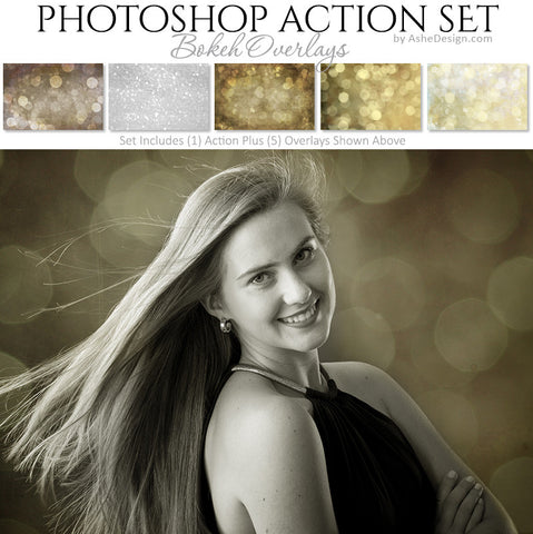 Photoshop Action - Overlays | Bokeh
