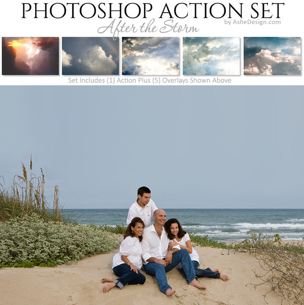 Photoshop Action | Cloud Overlays - After The Storm