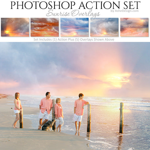 Photoshop Action | Cloud Overlays - Sunrise