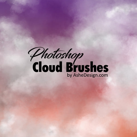 Designer Gems - Photoshop Brush Set - 2-Tone Clouds