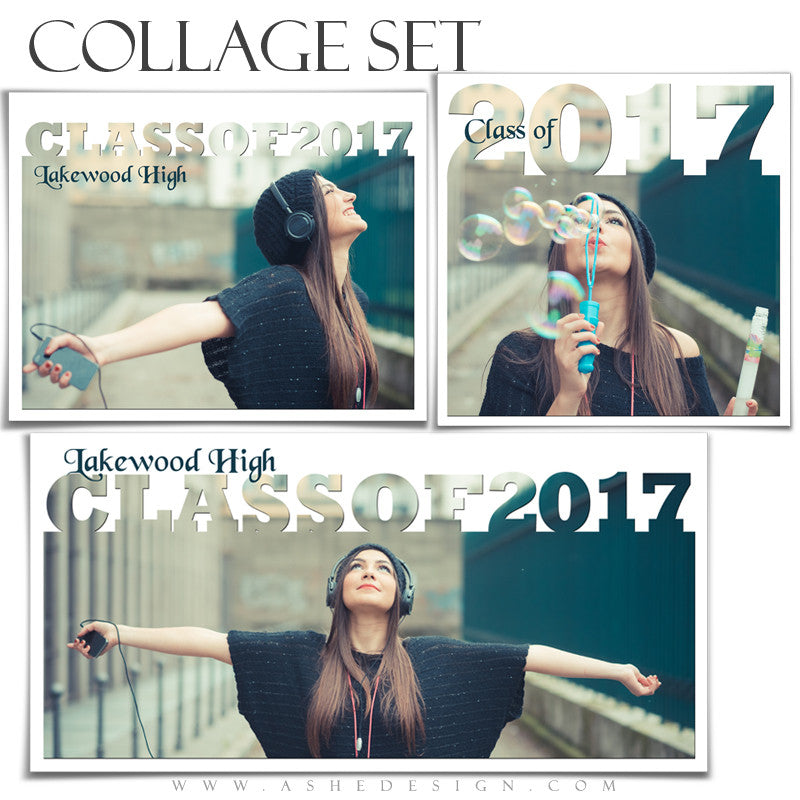 Senior Collage Set (12x12, 10x20, 11x14) - Senior Year 2017