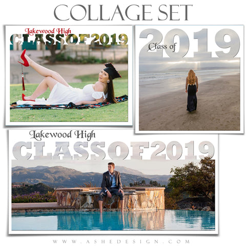 Senior Collage Set (12x12, 10x20, 11x14) - Senior Year 2019