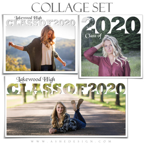 Senior Collage Set (12x12, 10x20, 11x14) - Senior Year 2020
