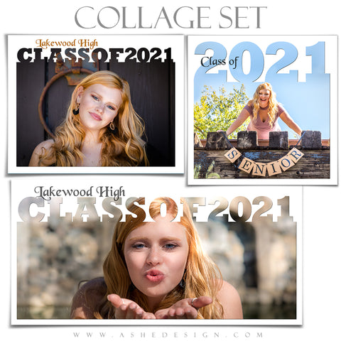 Senior Collage Set (12x12, 10x20, 11x14) - Senior Year 2021