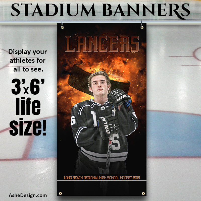 Amped Stadium Banner 3'x6' - Backdraft Hockey