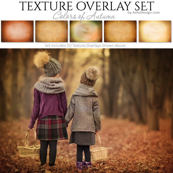 Texture Overlay Set - Colors of Autumn
