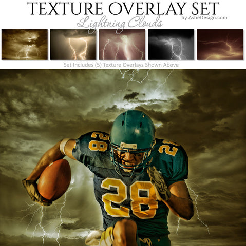 Texture Overlay Set - Lightning Clouds