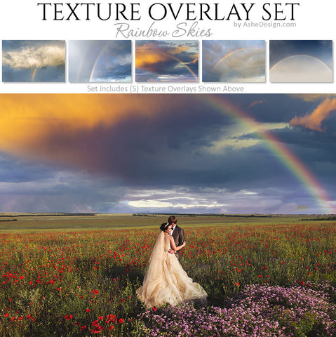 Texture Overlay Set - Rainbow Skies