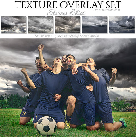 Texture Overlay Set - Stormy Skies