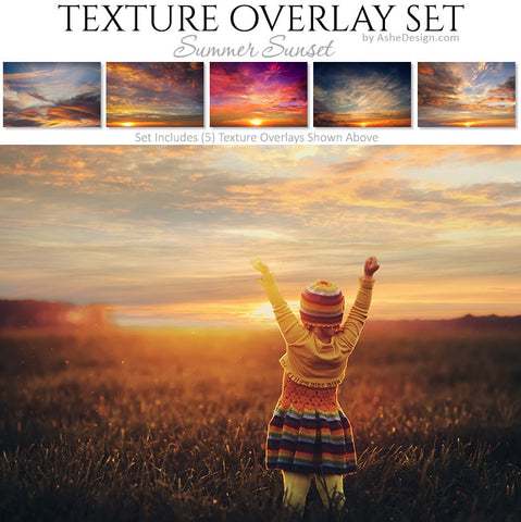 Texture Overlay Set - Summer Sunset Skies