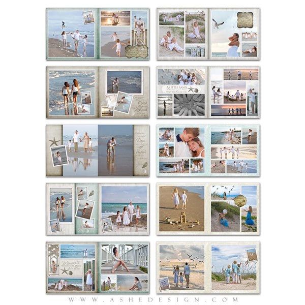 Photo Book Template (10x10) - By The Seashore