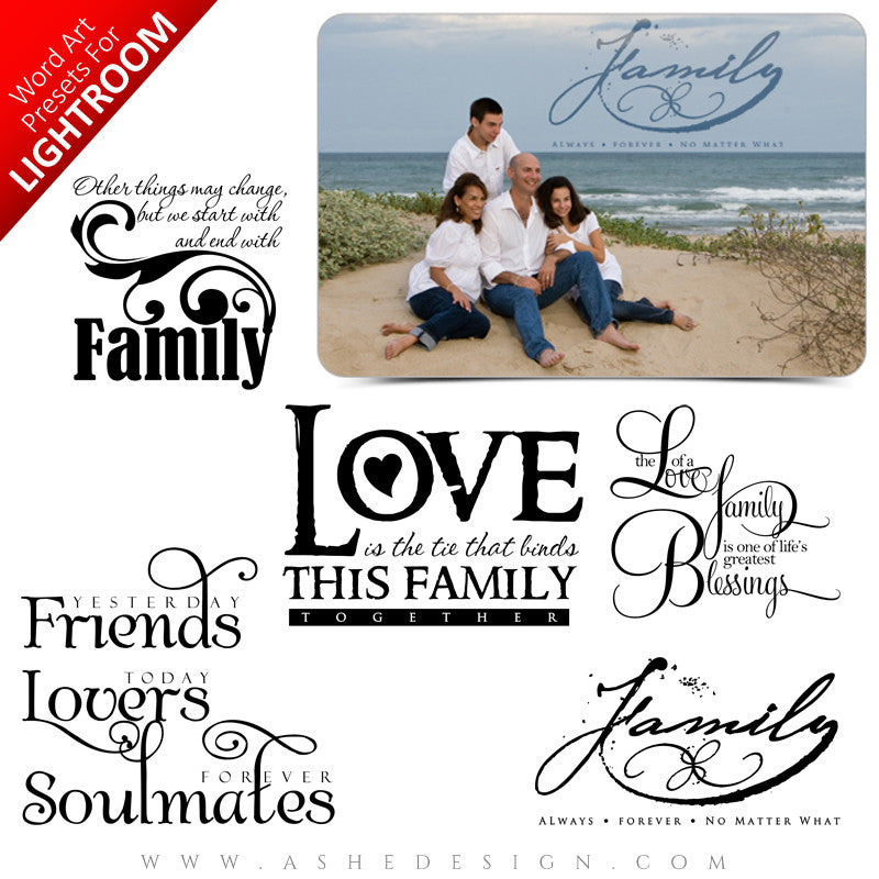 Lightroom Word Art Preset - My Family