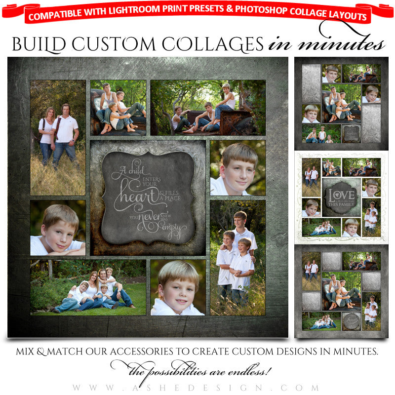 Collage Accessory Kit - Chalkboard Family