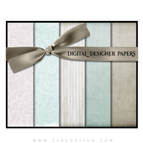 Digital Designer Paper Set - By The Seashore