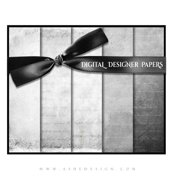 Digital Designer Paper Set - Softly Spoken