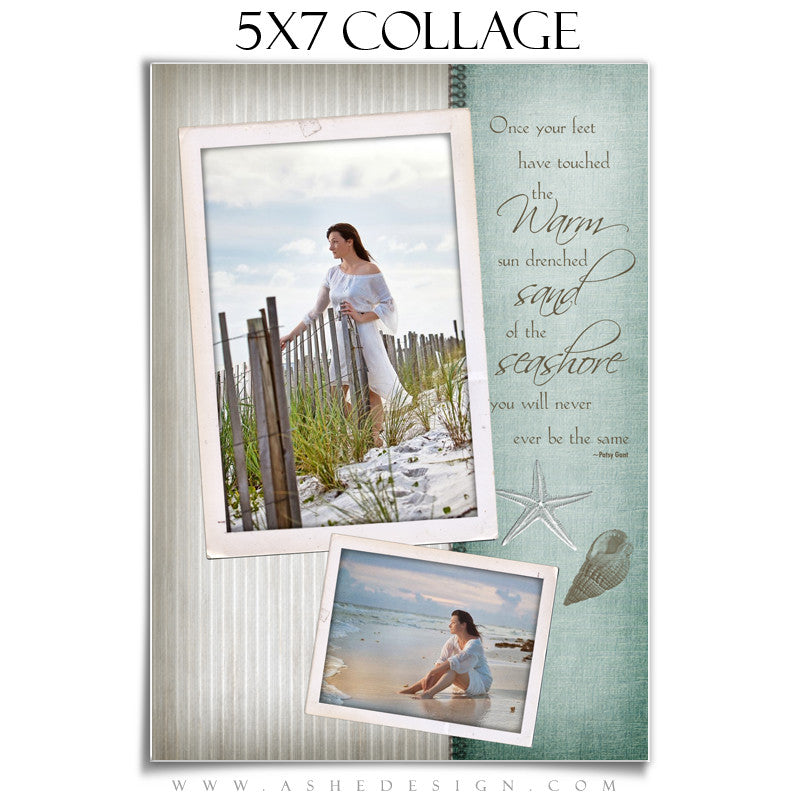 Collage Template (5x7) - By The Seashore