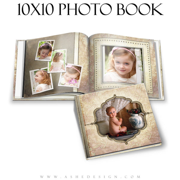 Photo Book Template (10x10) - Victorian Garden