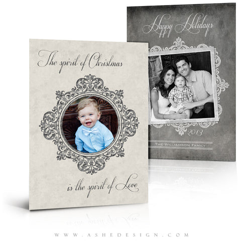 5x7 Flat Christmas Card - Chalkboard Parchment