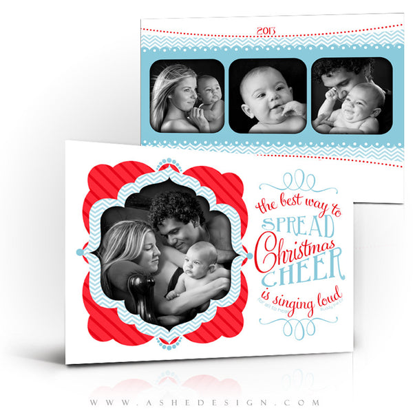 5x7 Flat Christmas Card - Spread Christmas Cheer
