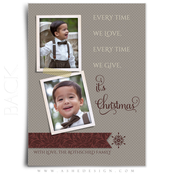 5x7 Flat Christmas Card - Merry Little Christmas