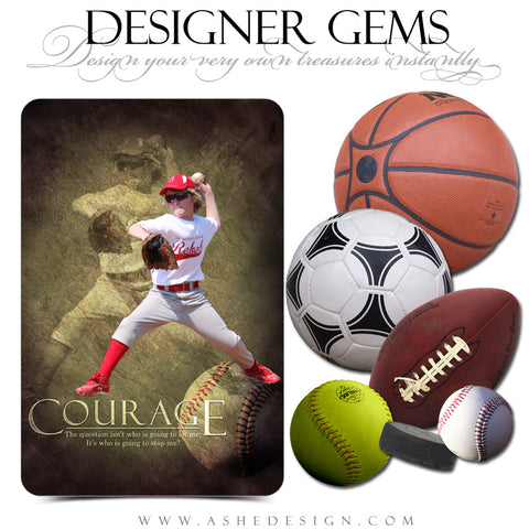 Ashe Design | Digital Overlays | Sports Balls