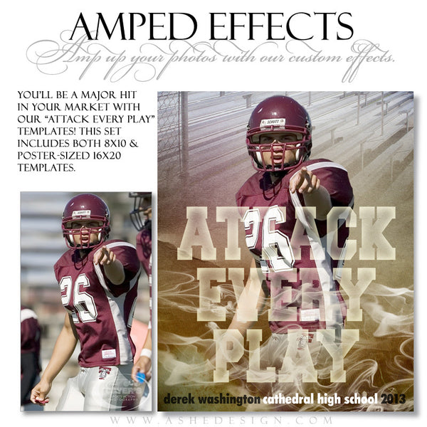 Ashe Design | Sports Amped Effects | Attack Every Play fb