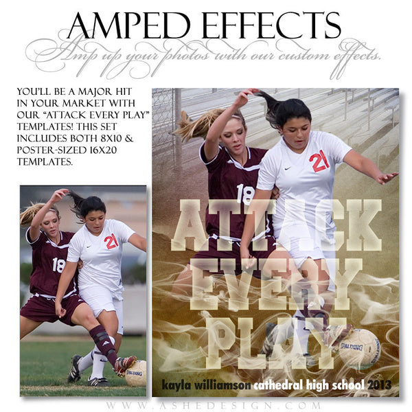 Ashe Design | Sports Amped Effects | Attack Every Play soccer