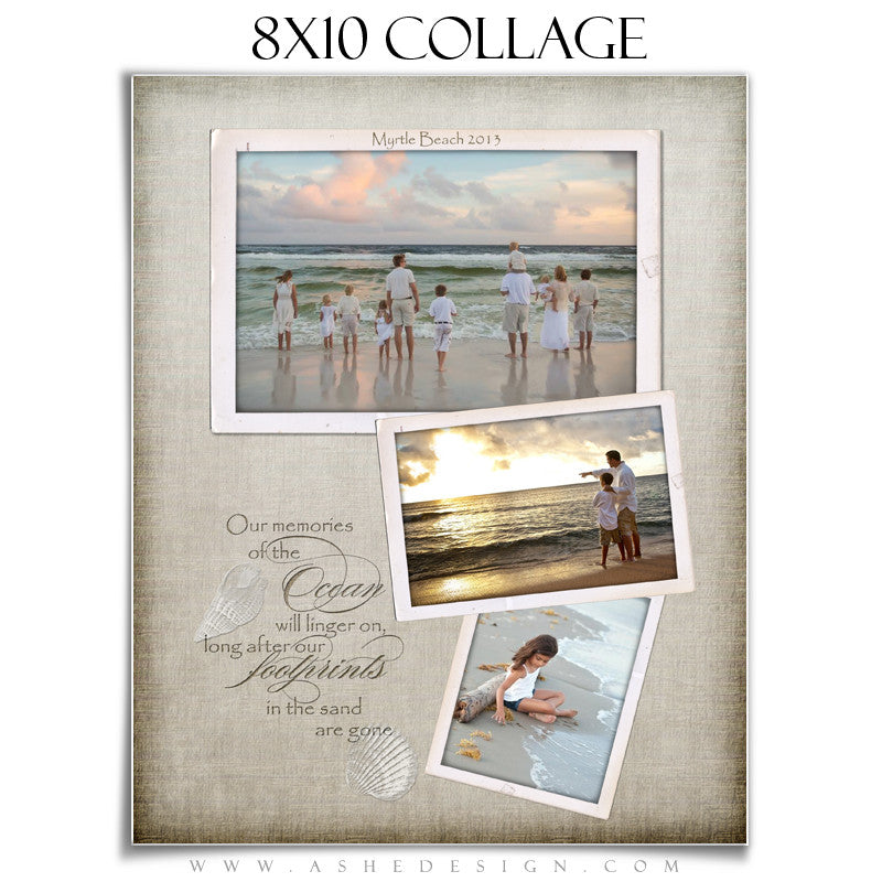 Collage Template (8x10) - By The Seashore