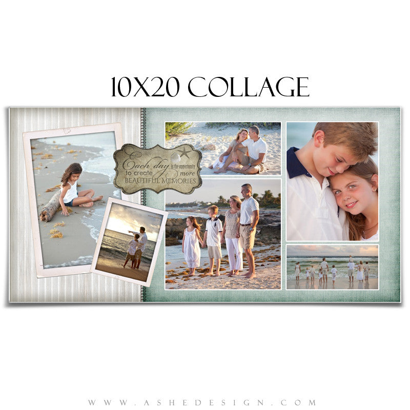 Collage Template (10x20) - By The Seashore