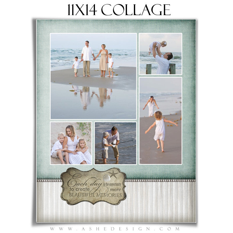 Collage Template (11x14) - By The Seashore