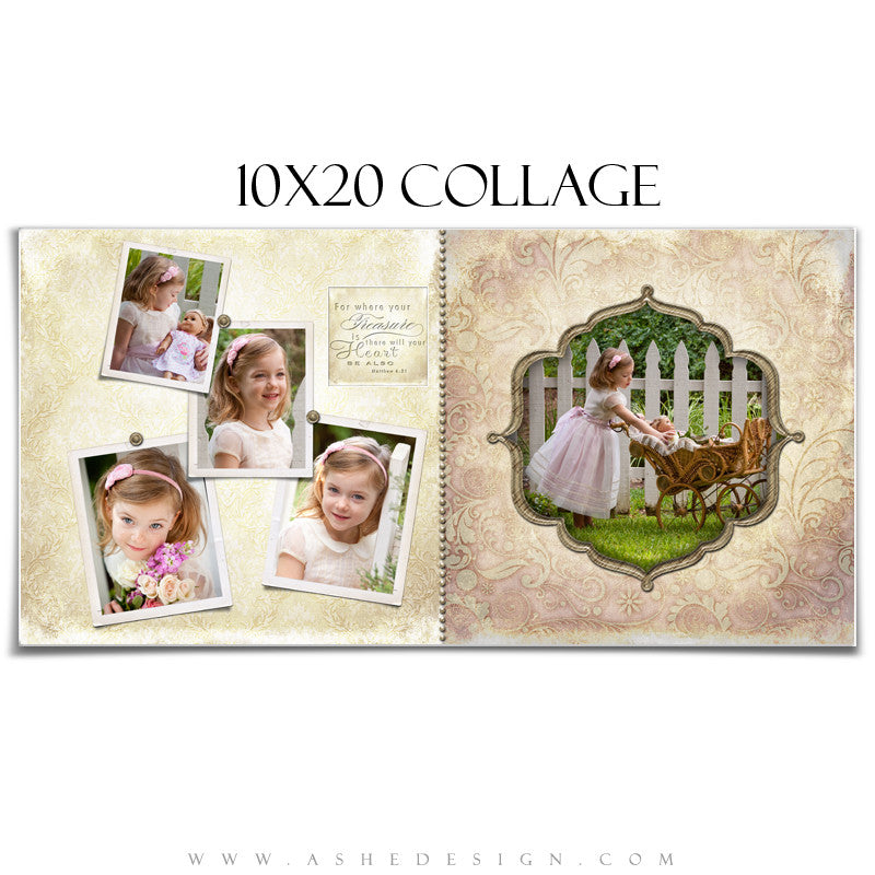 Collage Design (10x20) - Victorian Garden