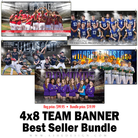 Ashe Design Best Sellers Bundle - 4x8 Team Banners