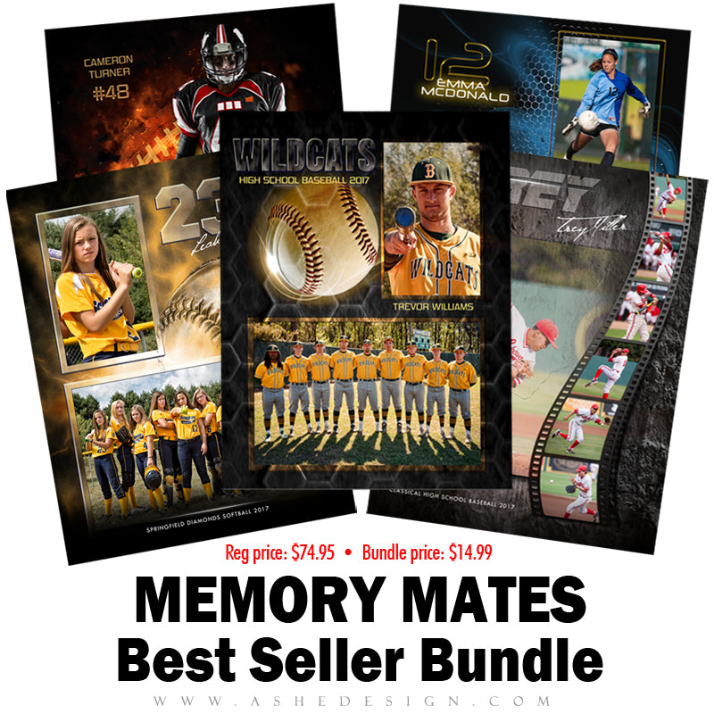 Ashe Design Best Sellers Bundle - Sports Memory Mates