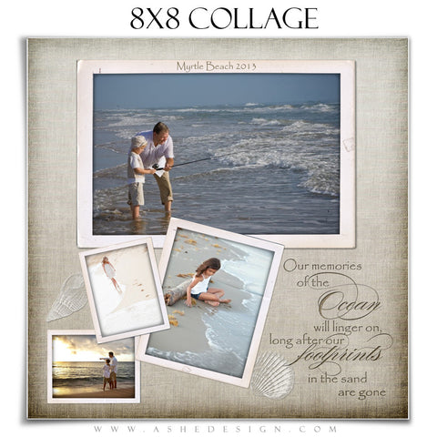 Collage Design (8x8) - By The Seashore