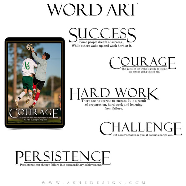 Sports Word Art Collection - Motivational Set (1)